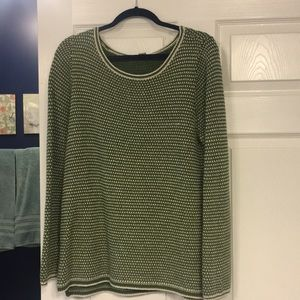 Green comfy J Crew Sweater